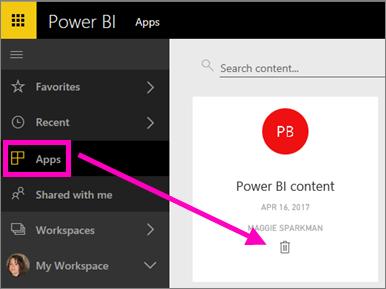 Delete a dashboard, report, workbook, dataset, or workspace