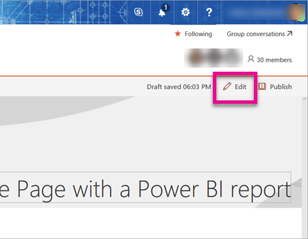 Embed with report web part in SharePoint Online - Power BI