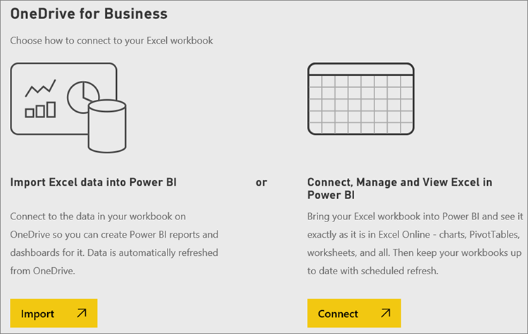 get data from excel workbook files power bi microsoft docs