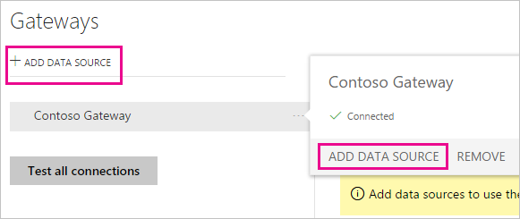 Manage data sources - Power BI | Microsoft Docs