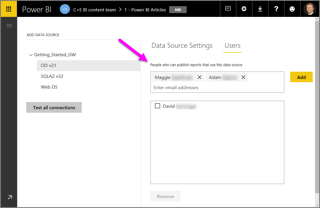 Manage data sources - Power BI | Microsoft Docs