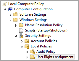 Local Computer Policy folder structure
