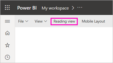 Screenshot of Reading view option.