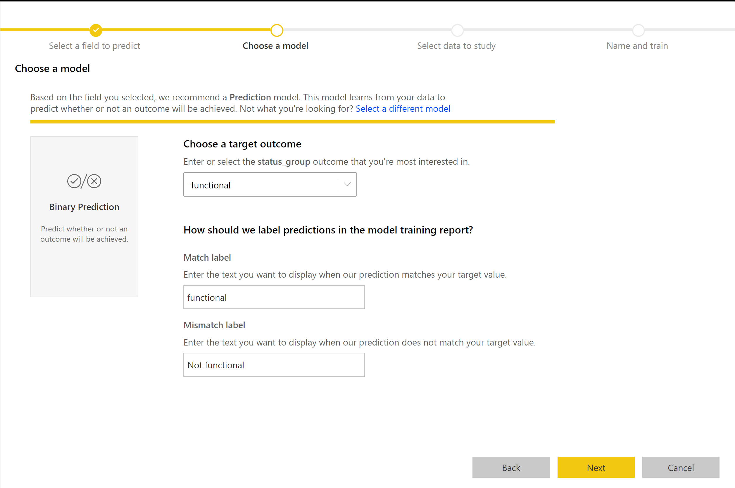 Automated Machine Learning in Power BI (Preview) - Power BI