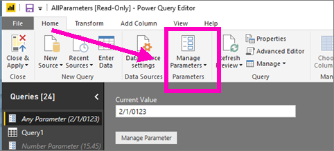 Edit parameter settings in the Power BI service - Power BI
