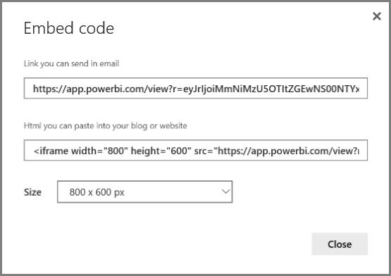 Publish to web from Power BI - Power BI | Microsoft Docs