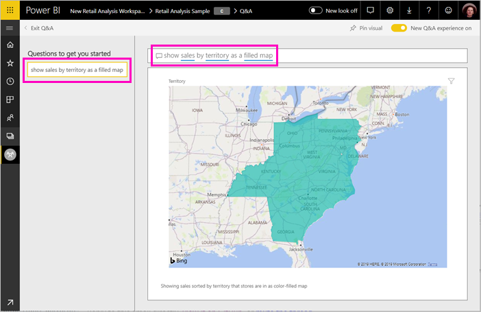 Create featured questions for Power BI Q&A - Power BI | Microsoft Docs