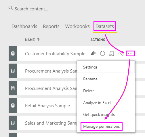 Share Power BI dashboards and reports with coworkers and others