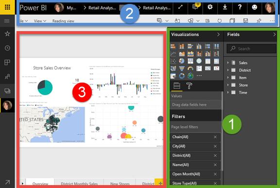 Tour the report editor - Power BI | Microsoft Docs