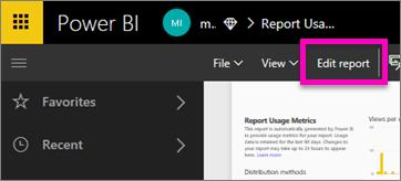 select Edit report
