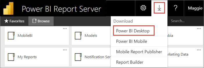 Install Power BI Desktop optimized for Power BI Report