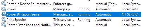 Report Server Windows Service