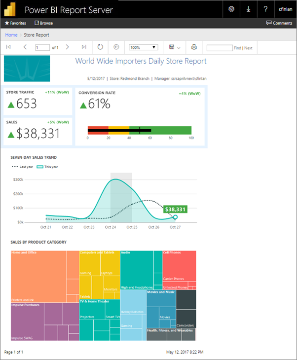 Create a paginated report for Power BI Report Server - Power