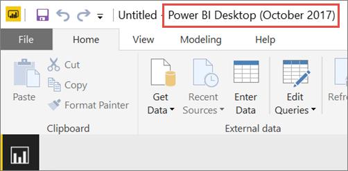 power bi desktop how to get version