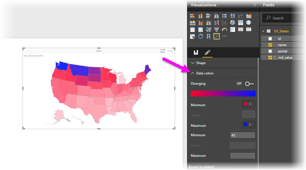 Create Color Coded Us Map.Use Shape Maps In Power Bi Desktop Preview Power Bi Microsoft Docs