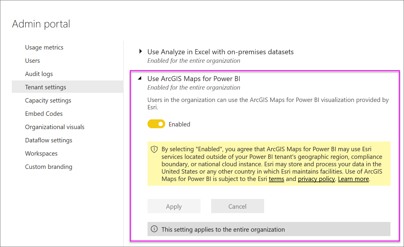 Create ArcGIS maps by ESRI in Power BI - Power BI