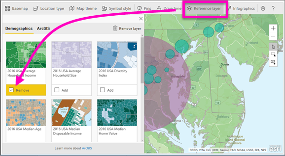 Create ArcGIS maps by ESRI in Power BI - Power BI | Microsoft Docs