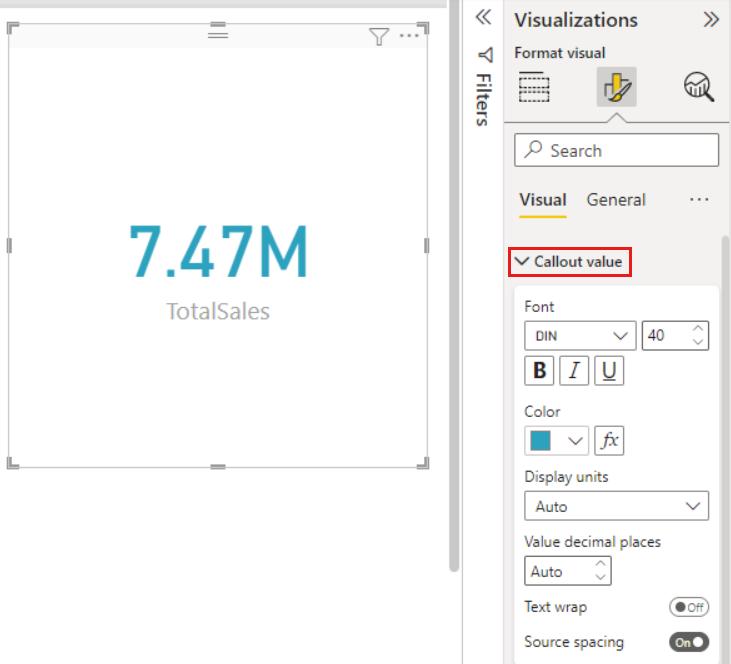 Card visualizations (big number tiles) - Power BI | Microsoft Docs