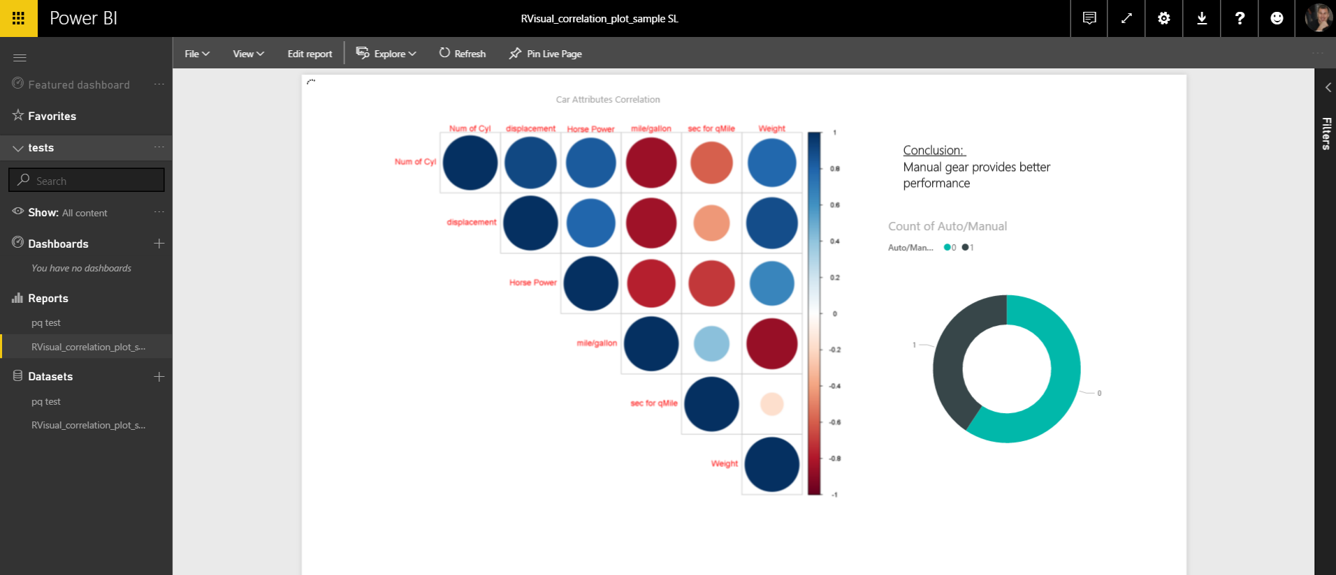 Create advanced analytics and visualizations using R scripts