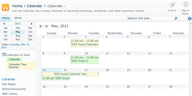 Configuring SharePoint MyCalendar Web Parts to Synchronize