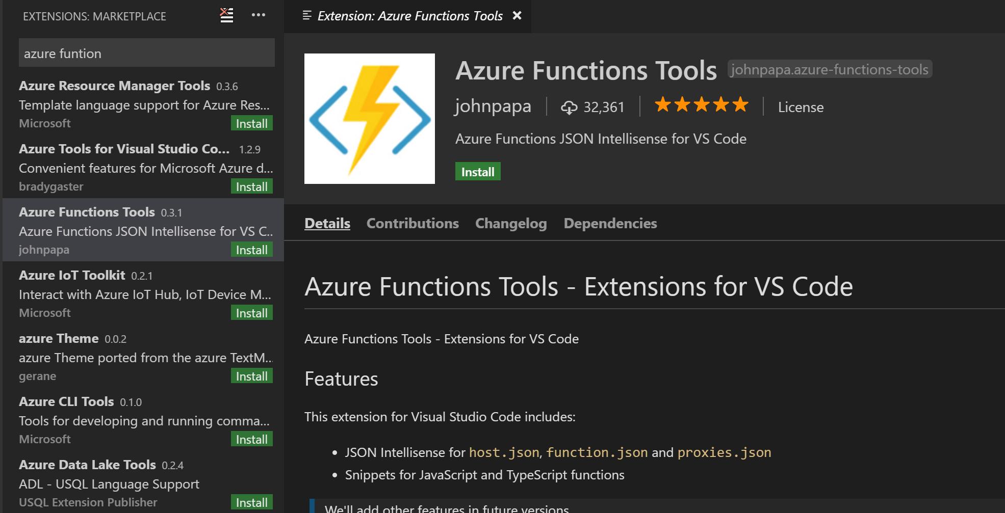 Azure Functions Recipes - Visual Studio Code | Microsoft Docs