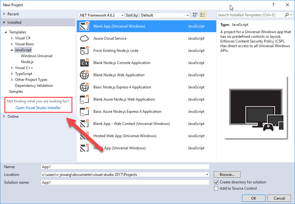 Installing Visual Studio Tools for Apache Cordova - Cordova