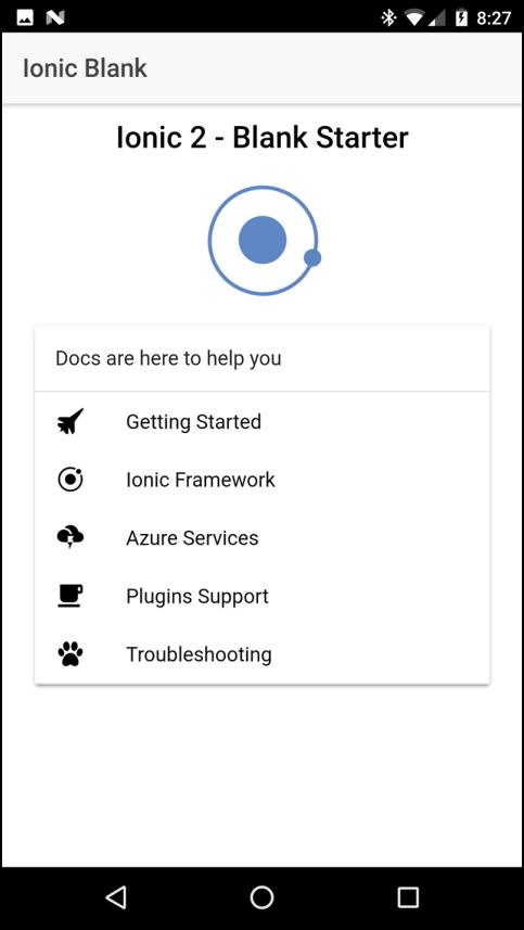 Aplicación JONICA Que se ejecuta en Android