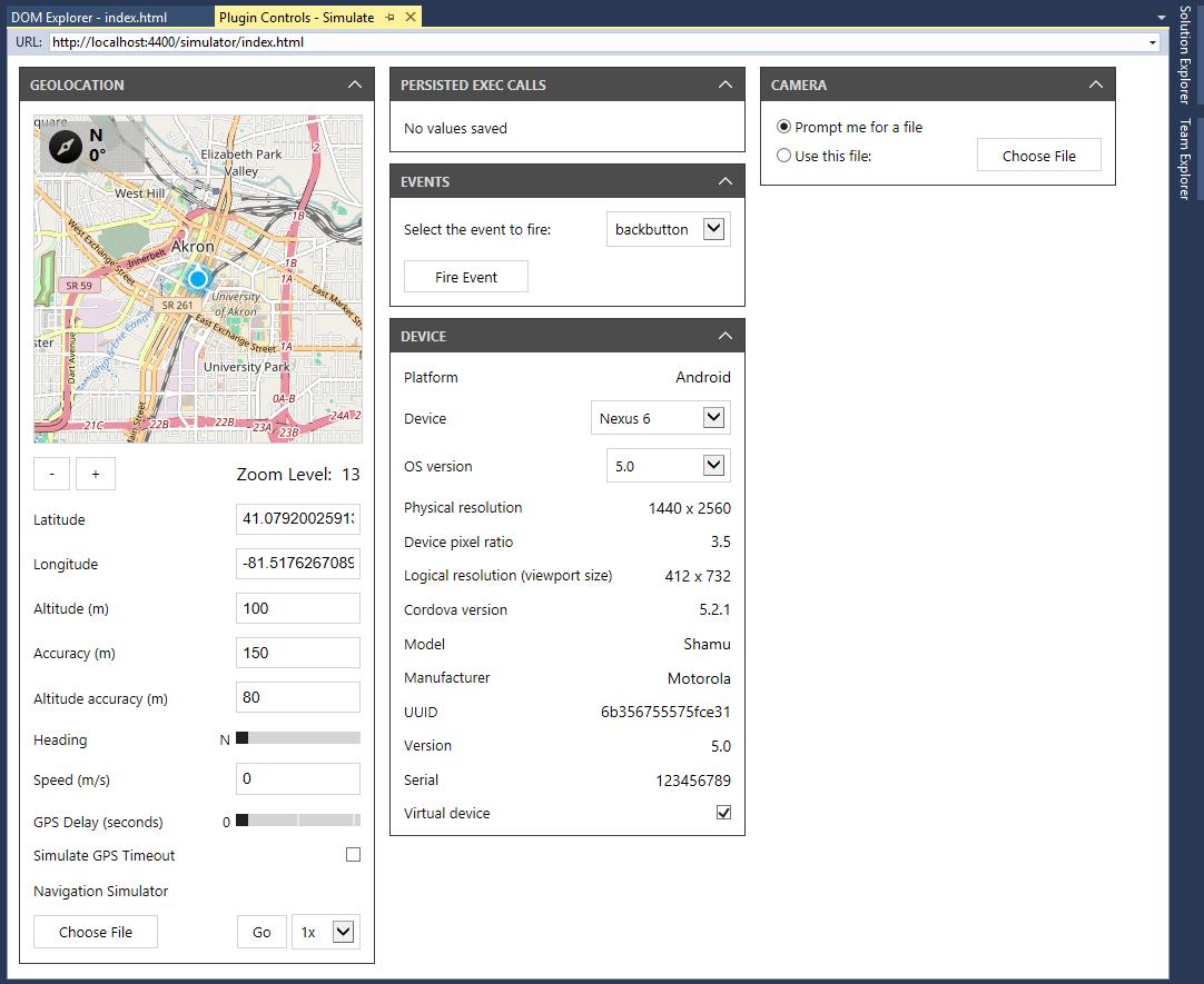 Run Your App Using Cordova Simulate - Cordova   Microsoft Docs