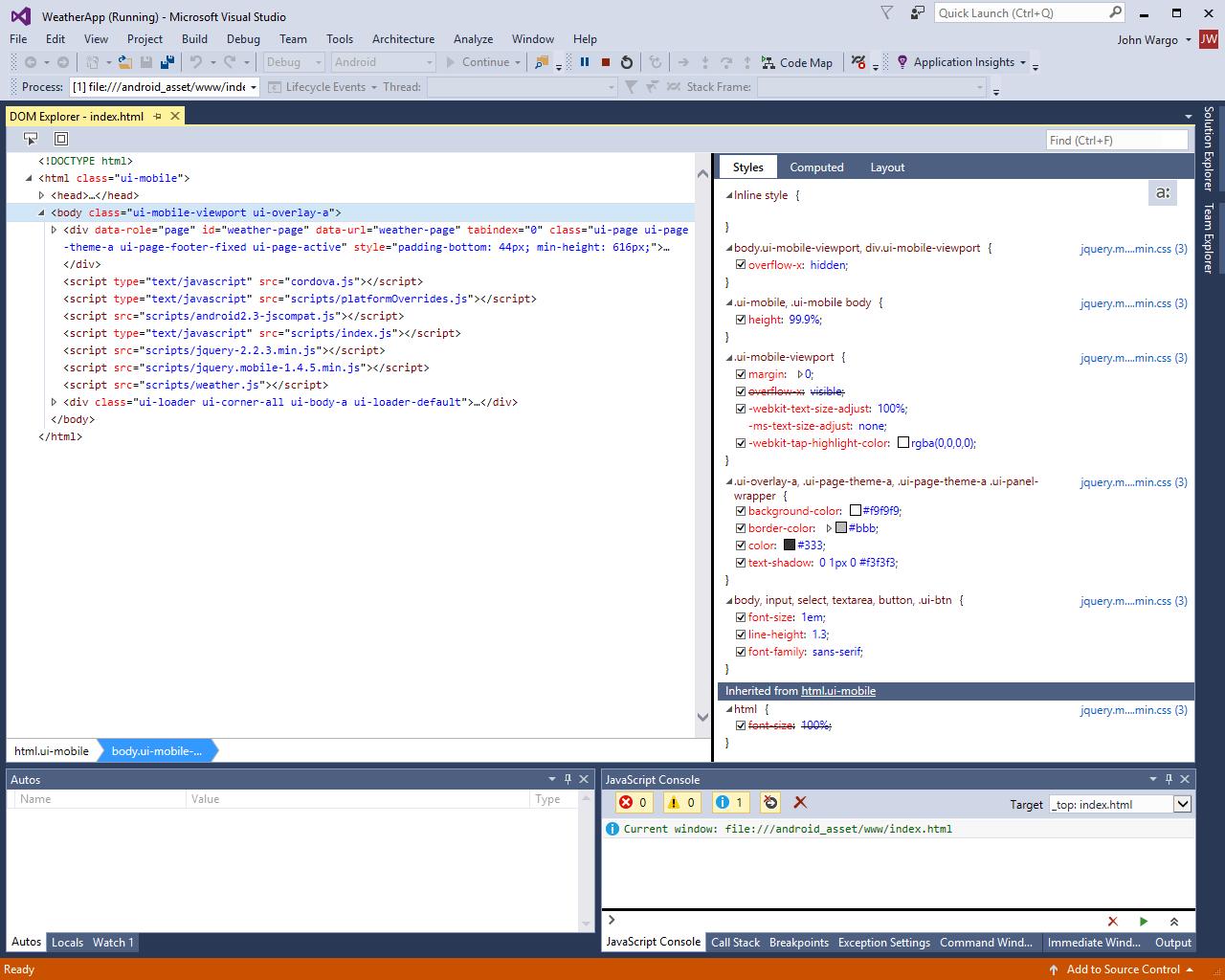 Run Your Apache Cordova App on Android - Cordova | Microsoft