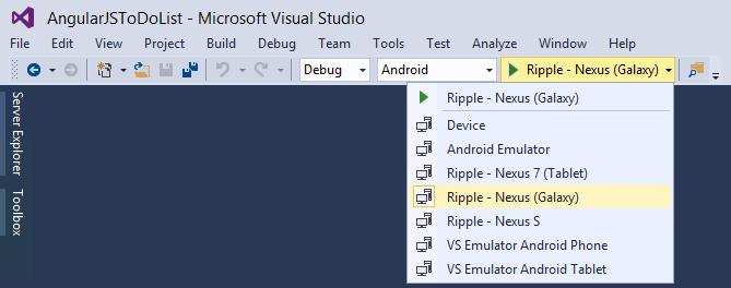 Create the ToDoList sample app - Cordova | Microsoft Docs
