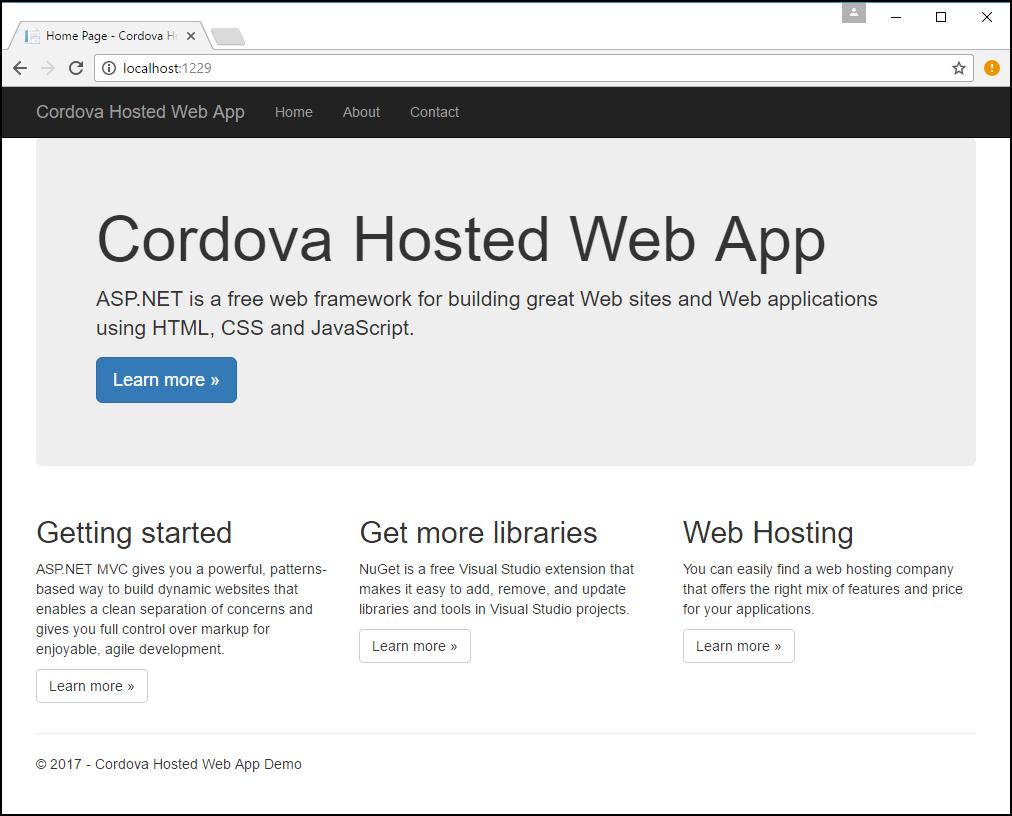 Run Your Hosted Web App in an Apache Cordova App - Cordova
