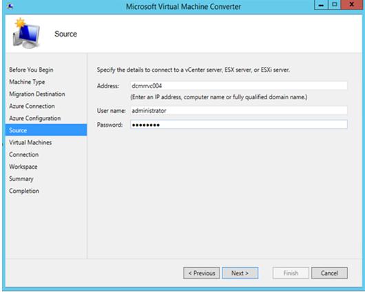 Use Microsoft Virtual Machine Converter | Microsoft Docs