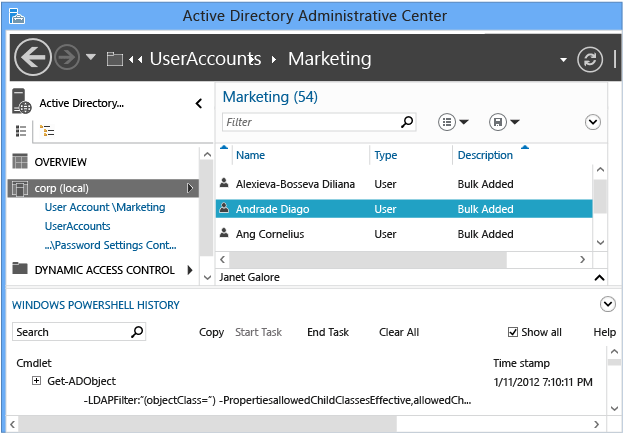 Advanced AD DS Management Using Active Directory