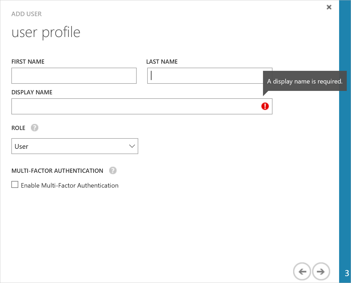 How to add a user in azure - User Profile
