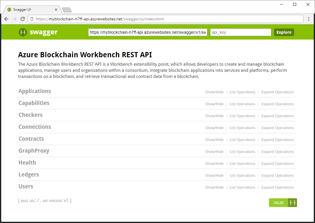 Azure Blockchain Workbench REST API - Azure Blockchain