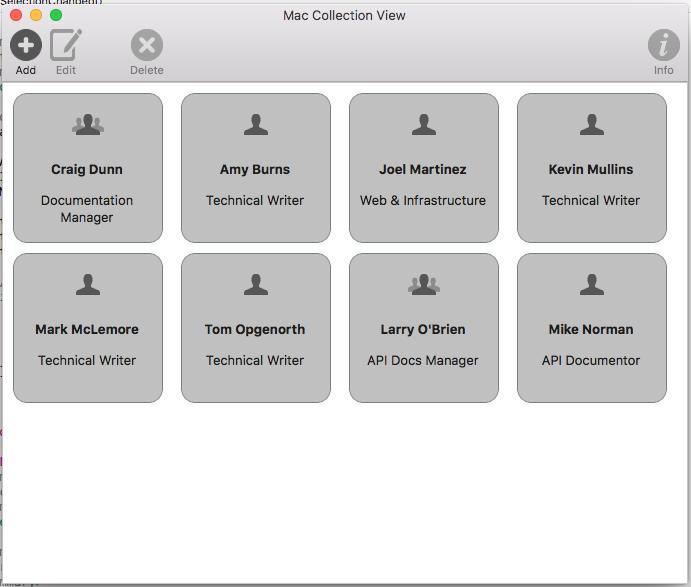 Xamarin.Mac - MacCollectionNew - Code Samples