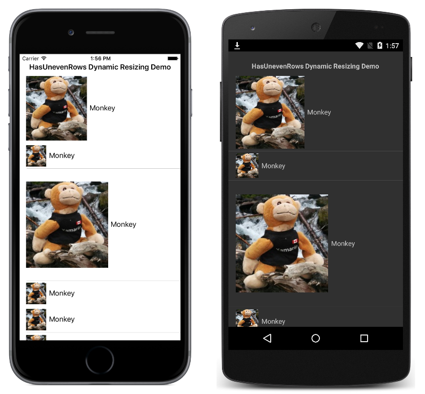 Xamarin Forms - Dynamic ListView Row Resizing - Code Samples