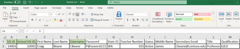 CSV files for School Data Sync | Microsoft Docs