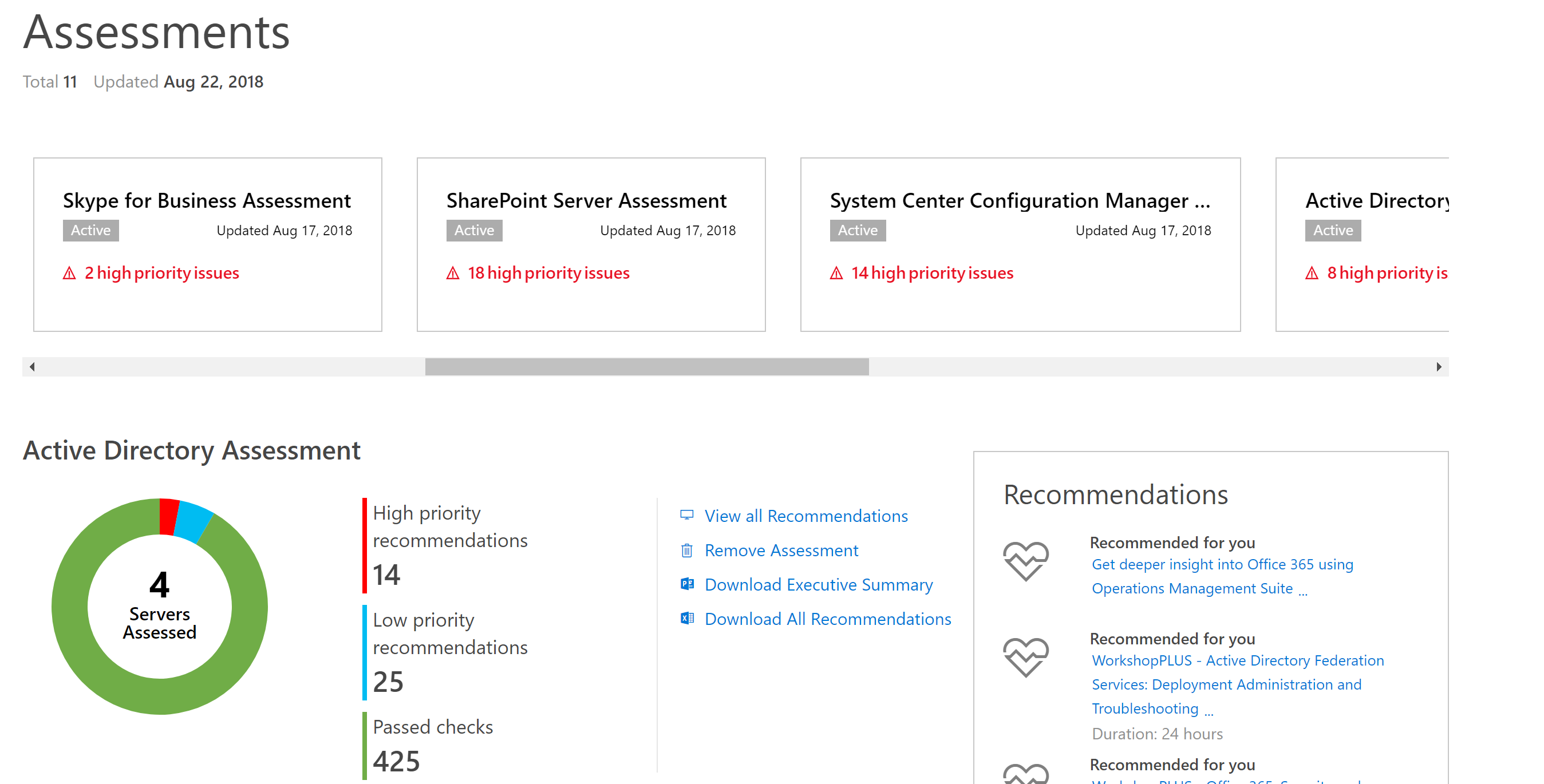 Troubleshooting the On-Demand Assessments | Microsoft Docs