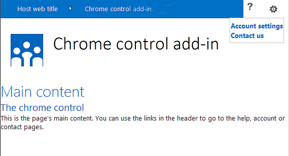 Use the client chrome control in SharePoint Add-ins | Microsoft Docs