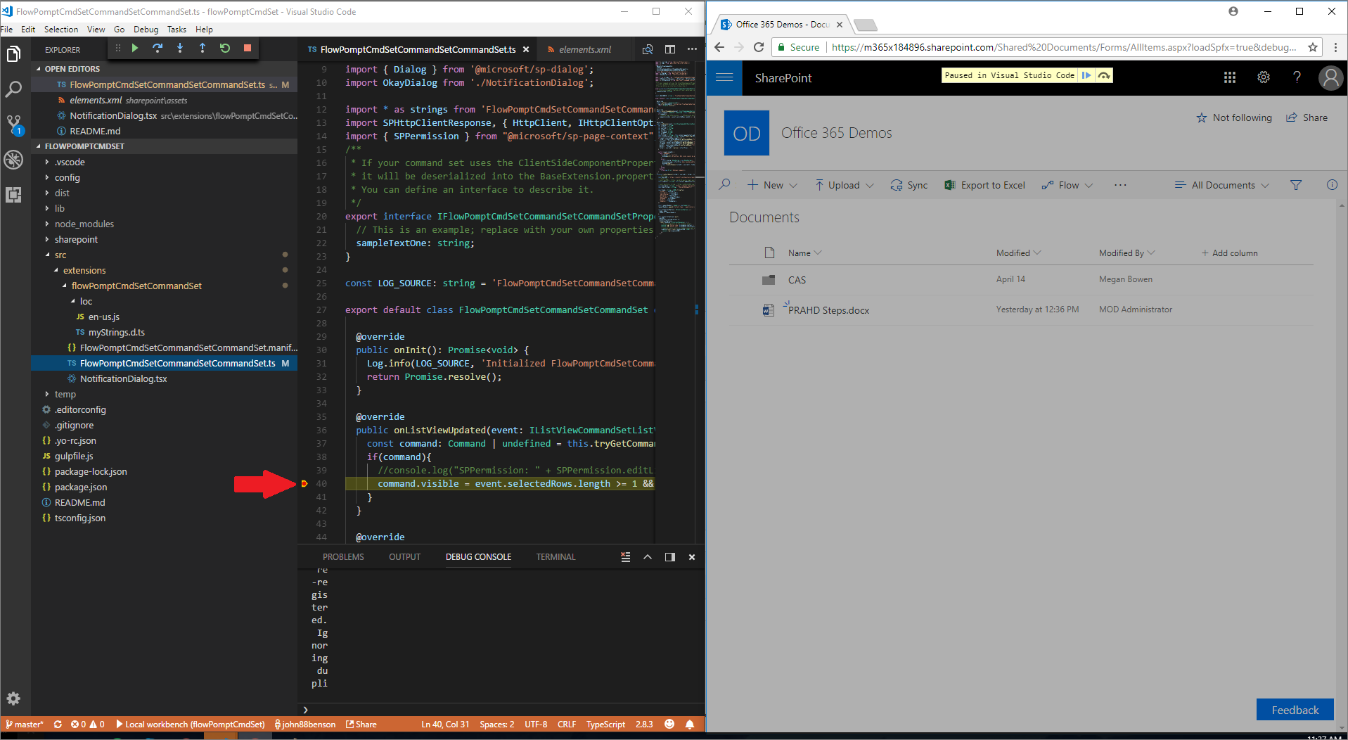 Debug SharePoint Framework solutions in Visual Studio Code