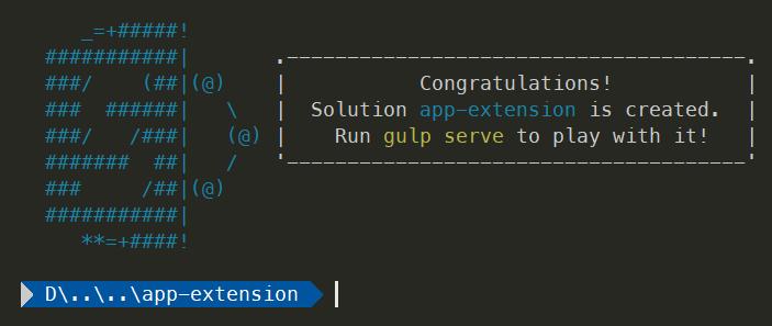 Build your first SharePoint Framework Extension (Hello World part 1