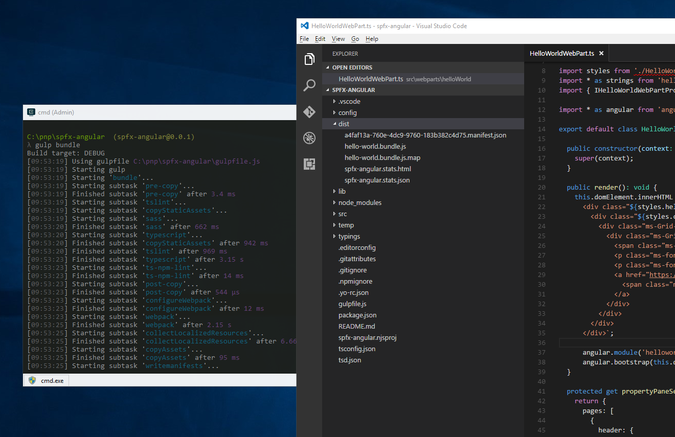 Use existing JavaScript libraries in SharePoint Framework