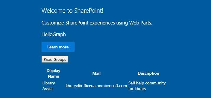 Tutorial - Use GraphHttpClient to call Microsoft Graph | Microsoft Docs