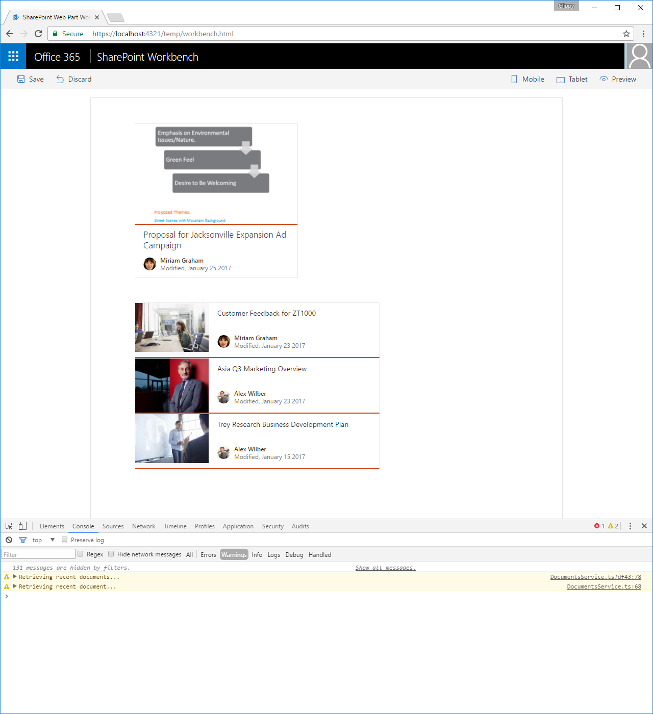 Share data between client-side web parts | Microsoft Docs