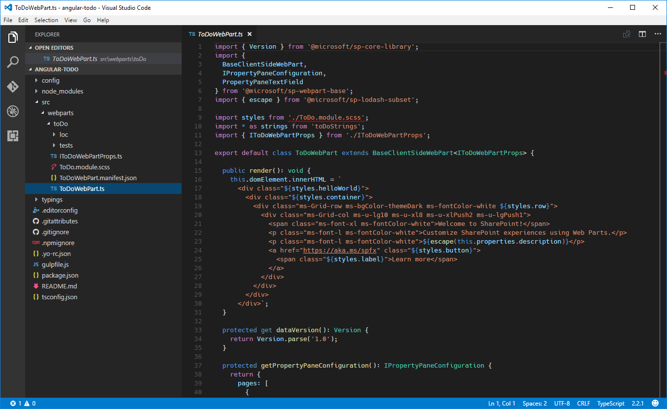 Tutorial Build Sharepoint Framework Client Side Web Parts With