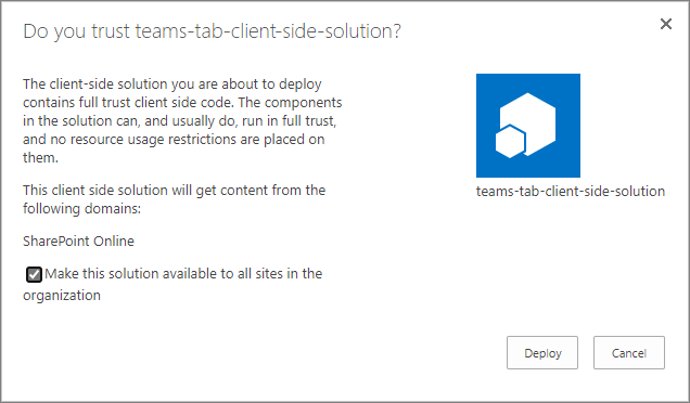 Building Microsoft Teams tab using SharePoint Framework - Tutorial