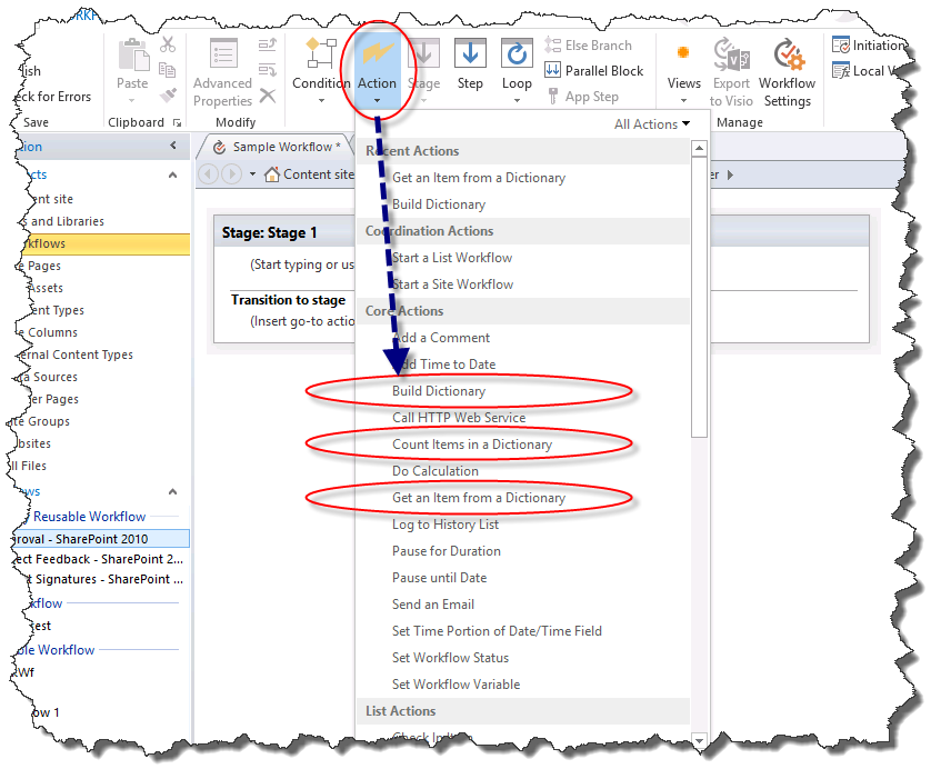 Understanding Dictionary actions in SharePoint Designer 2013 ...