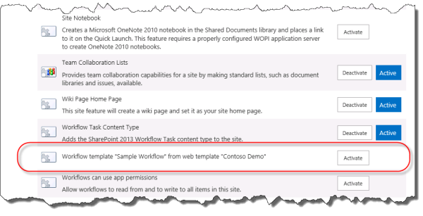 Understanding how to package and deploy workflow in sharepoint activate site feature pronofoot35fo Images