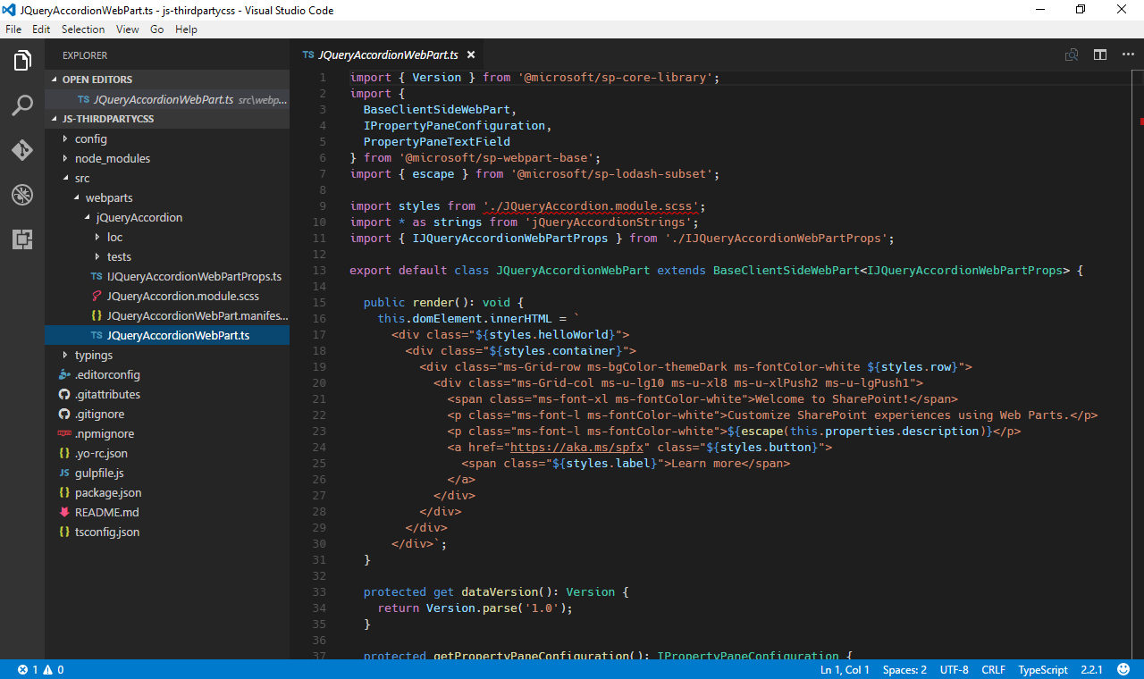 Reference third-party CSS styles in SharePoint Framework web parts ...